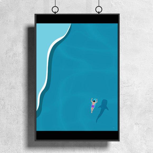 Surfer Dude - Illustration Shark